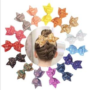 Other - 15 Pcs Glitter Bows Pack